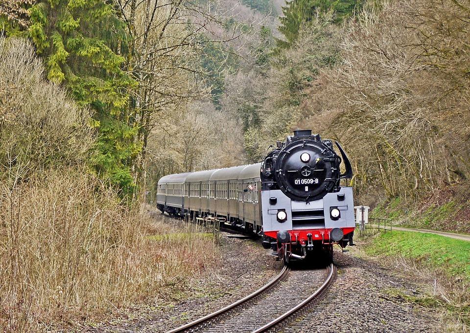 Steam Locomotive, Special Train, Eifel, Kylltal