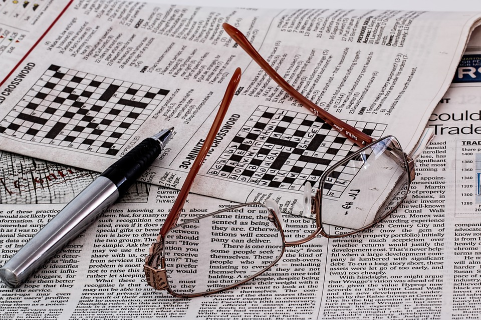 Newspaper, News, Media, Spectacles, Glasses, Paper