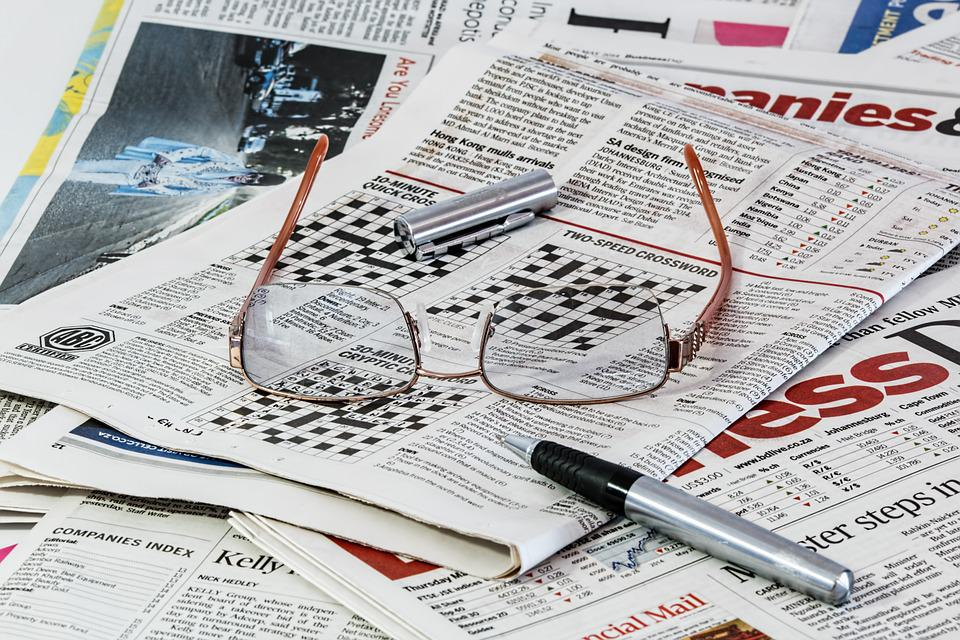 Newspaper, News, Media, Spectacles, Glasses, Paper