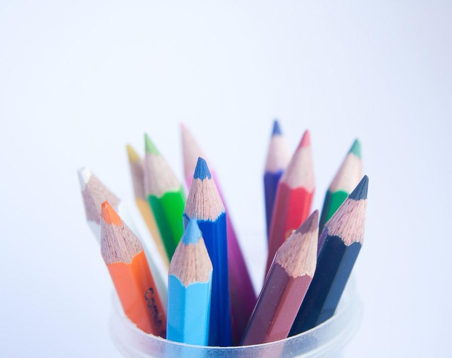 Pencils, Spectrum, Colors, School, Education
