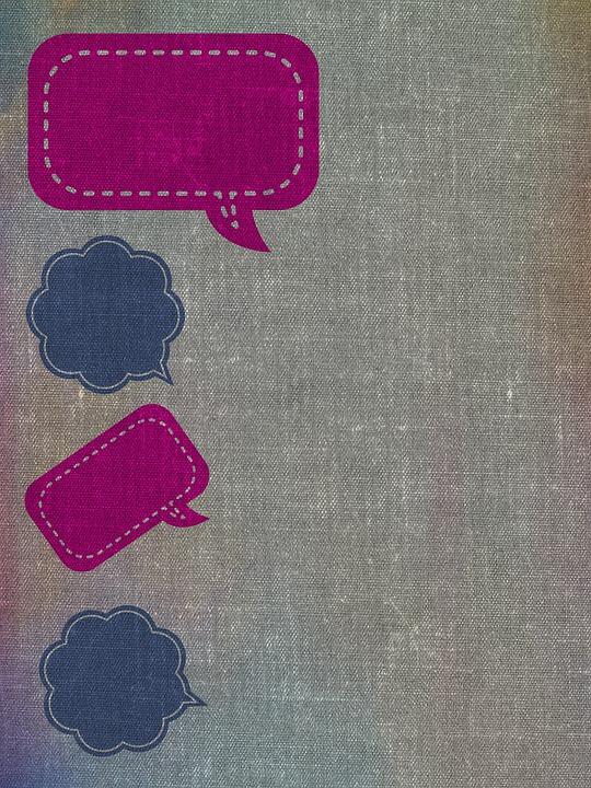 Speech Balloons, Border, Background, Texture