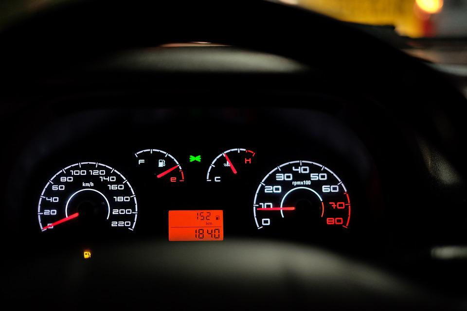 Car Dashboard, Speedometer, Speed, Car
