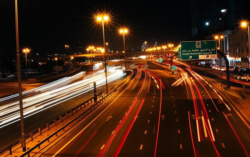 Highway, Road, Lights, Speed, City, Street, Urban