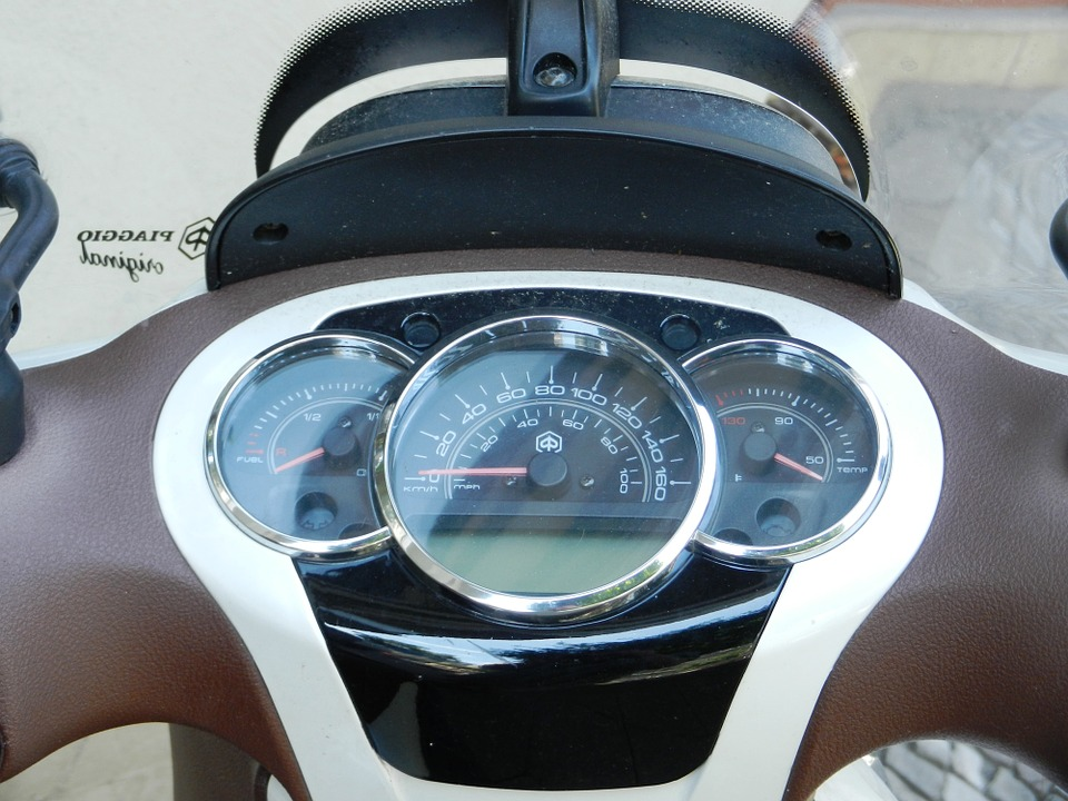 Scooter, Motor, A Motorcycle, Counter, Speed