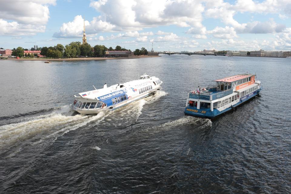 Hydrofoil, Speedboat, Meteor, St Petersburg, Newa