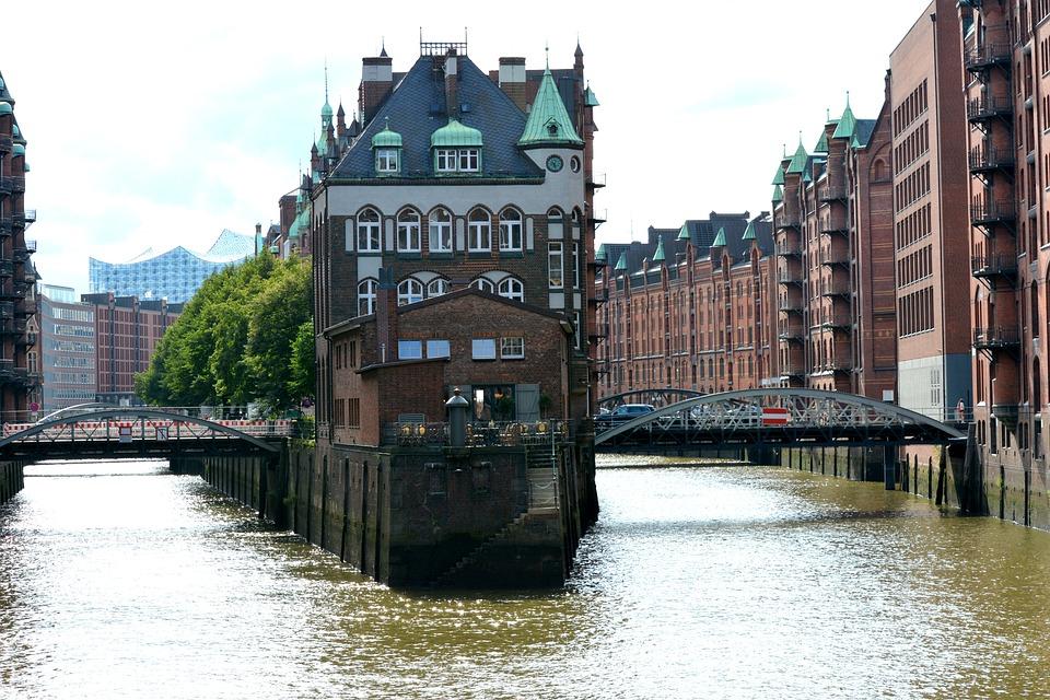 Hamburg, Speicherstadt, Elbe Philharmonic Hall