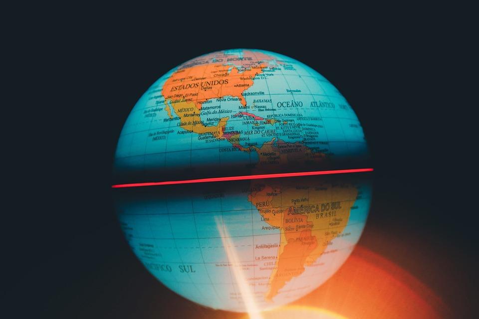 Round Globe Map.Free Photo Sphere Globe Round Map Colorful Blur Global Max Pixel