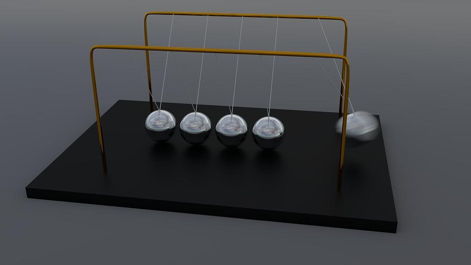 Newton's Pendulum, Spherical Ball Joint, Pendulum