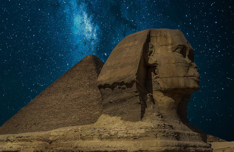Sphinx, Pyramid, Giza, Egypt, Pyramids Of Giza