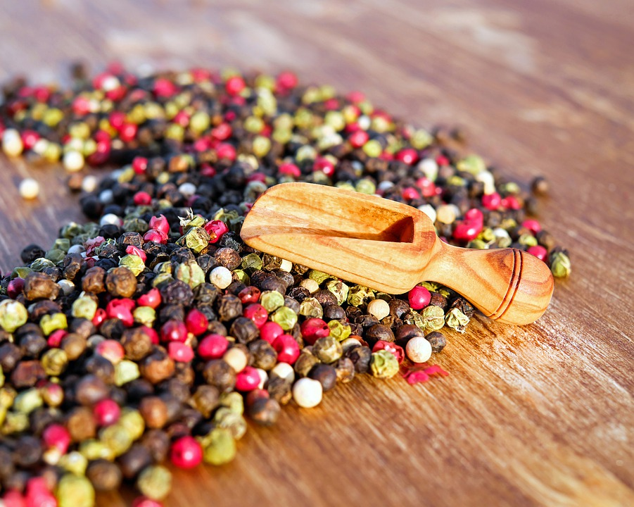Pepper, Peppercorns, Spices, Sharp, Grains, Colorful