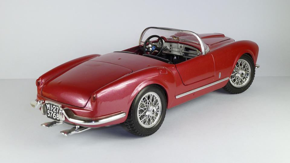 Lancia, Model Car, B24, B 24, Spider, Convertible