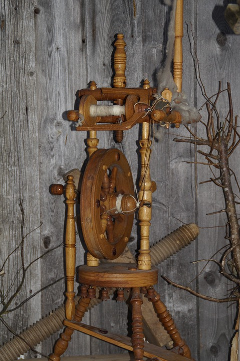 Spinning Wheel, Spin, Old, Craft, Thread, Wood
