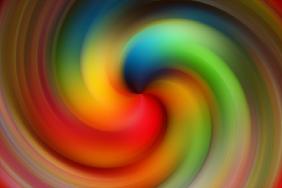 Abstract, Spiral, Art, Creativity, Rainbow