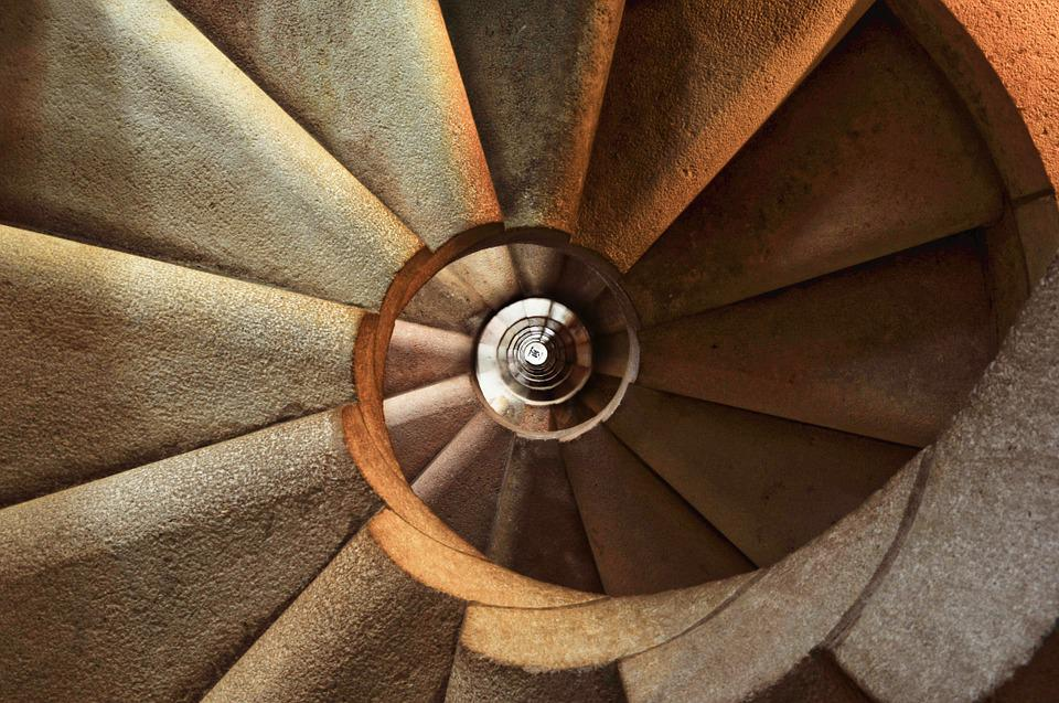 Staircase, Spiral, Architecture, Interior, Building
