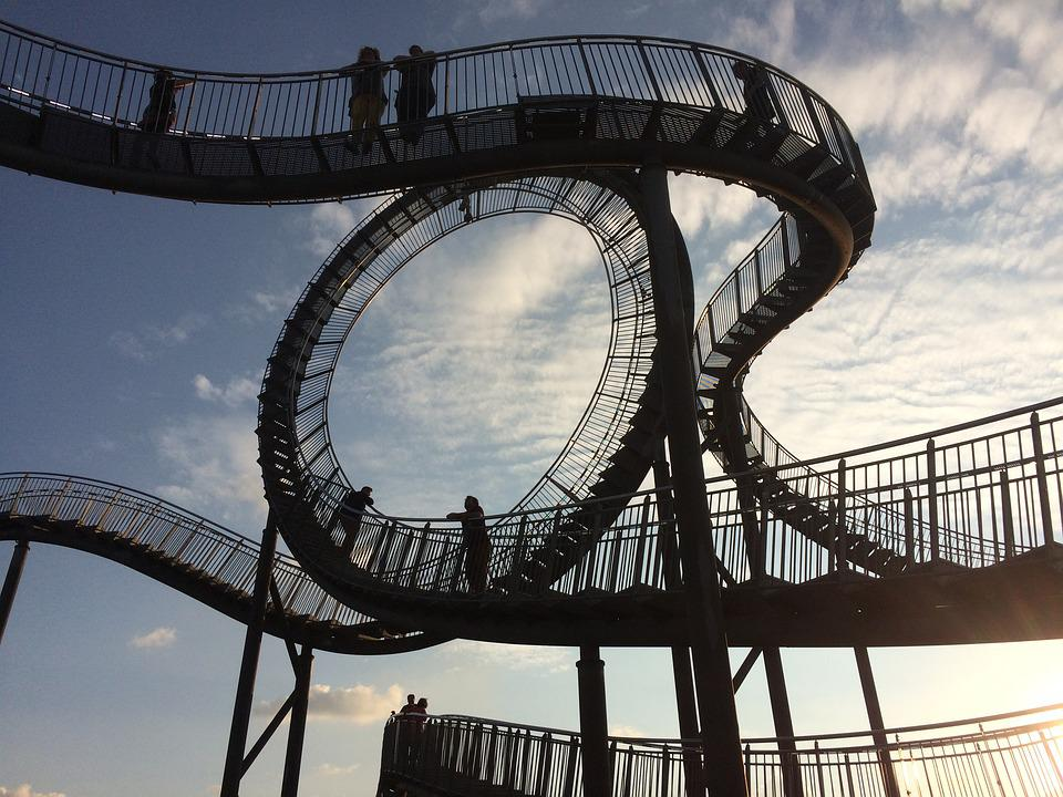 Duisburg, Tiger And Turtle, Roller Coaster, Spiral