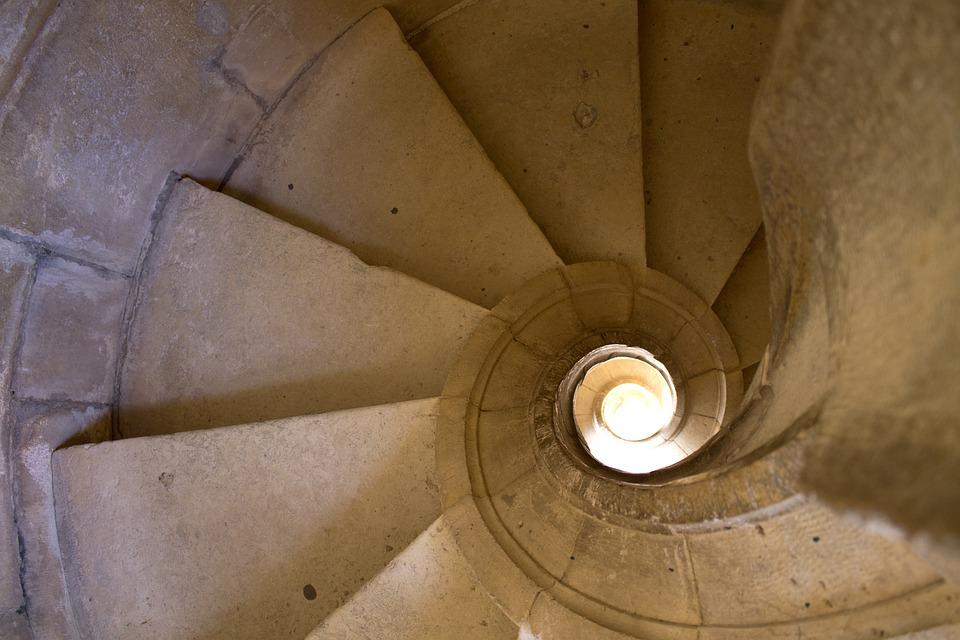 Stair, Medieval, Spiral, Old, Architecture, Stone