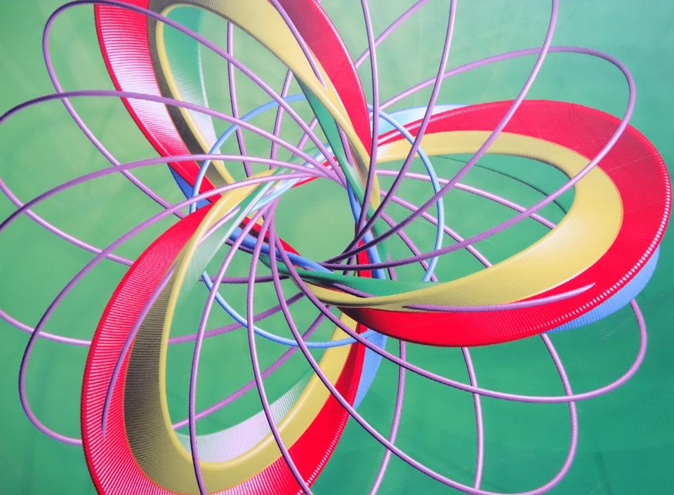 Spiral, 3-fold, Coils, Color, Abstract, Pattern