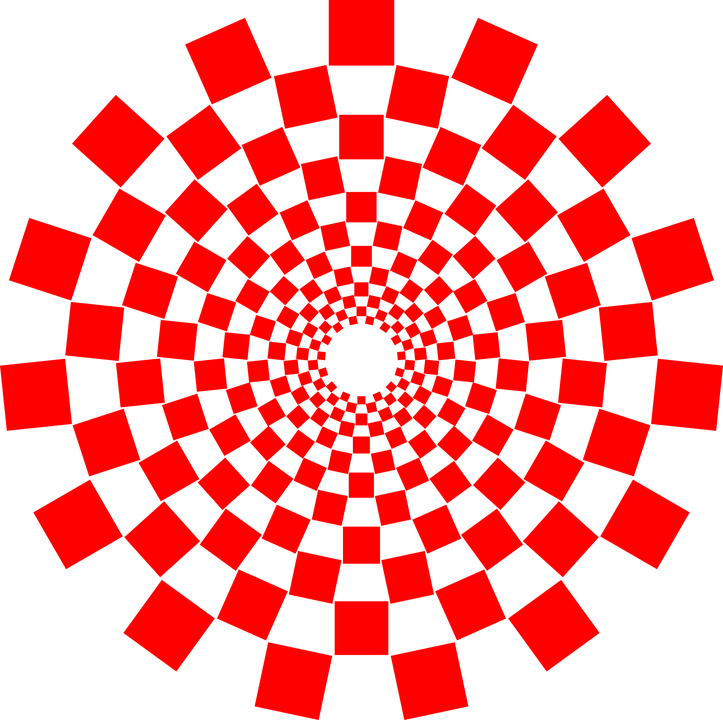 Spiral, Red, Abstract