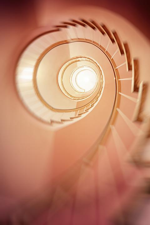 Spiral Staircase, Gradually, Stairs, Architecture