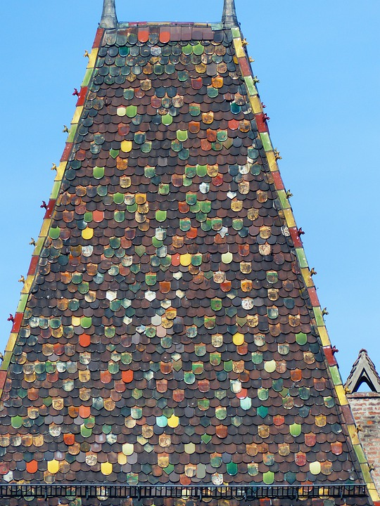 Roof, Spire, Building, Brick, Colorful, Color, Light