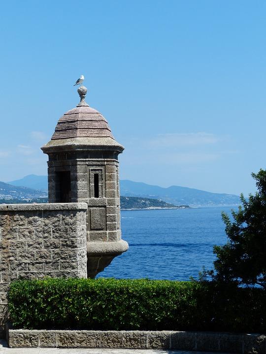 Turret, Stone, Seagull, Sit, Spire, Monaco