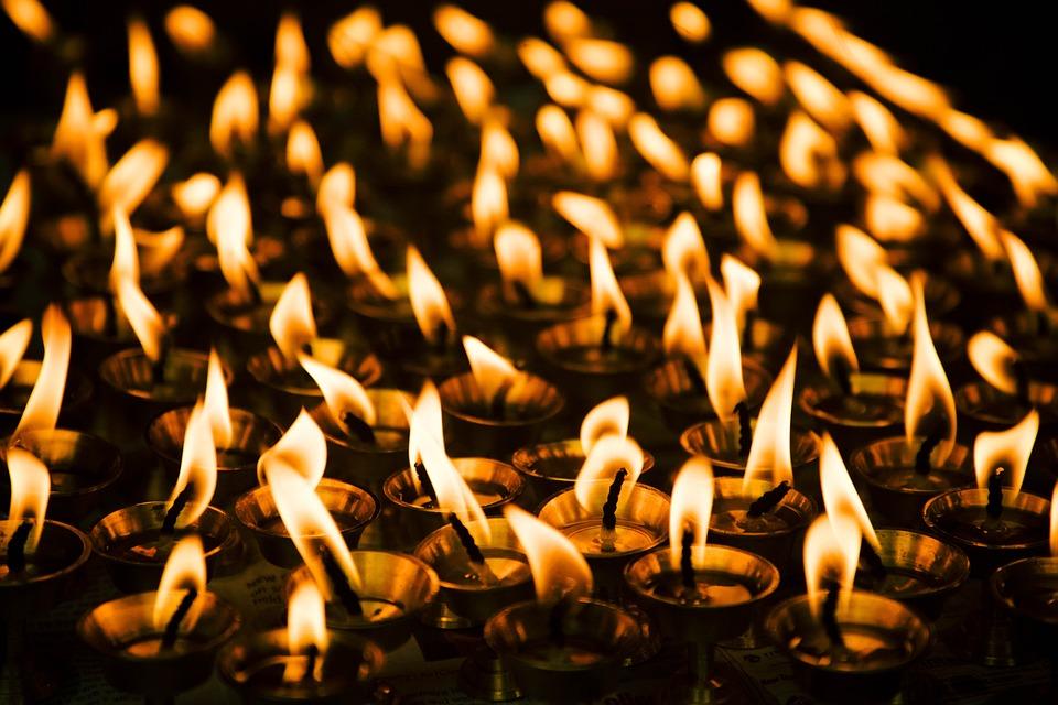 Lights, Candles, Worship, Spiritual, Prayer, Religion