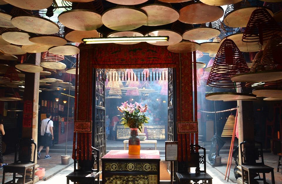 Temple, Smoke, Buddhism, Meditation, Asia, Spiritual