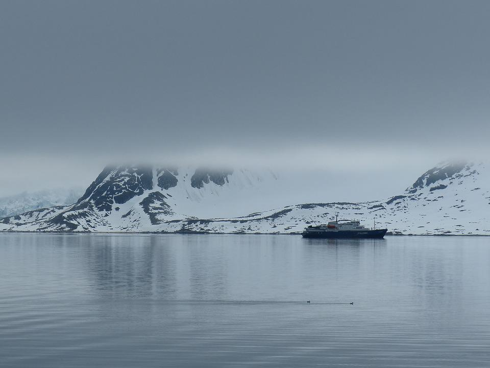 Spitsbergen, Expedition, Fog, Snow