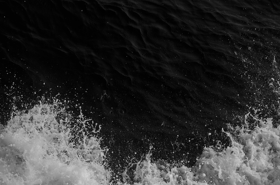 Water, Splash, Black, Liquid, Drop, Smooth, Pure