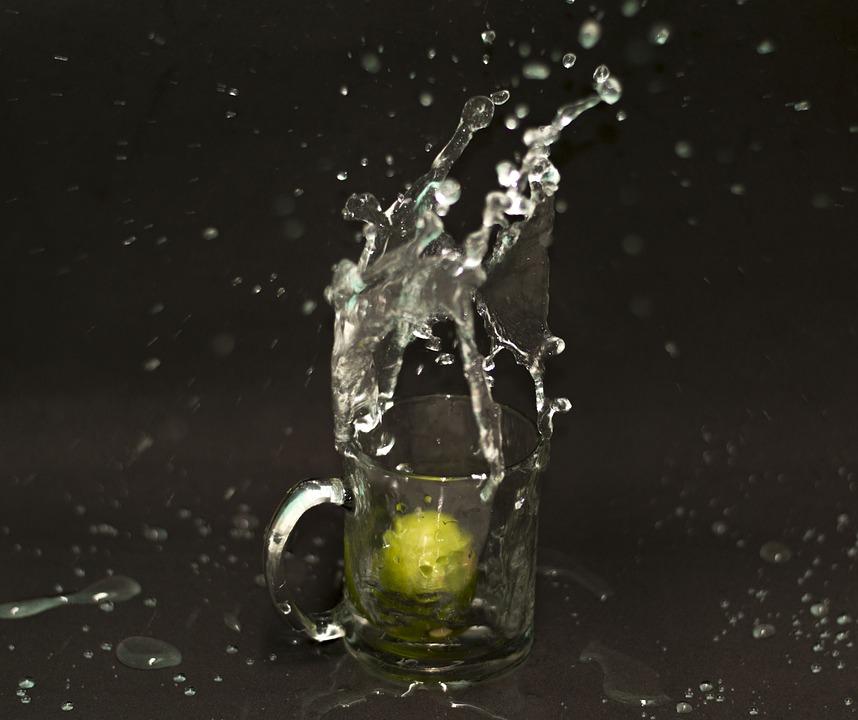 Water, Movement, Drops, Splash