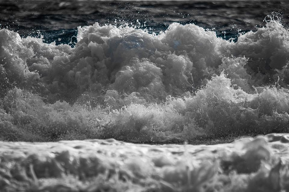 Wave, Splash, Spray, Foam, Nature, Water, Sea, Motion