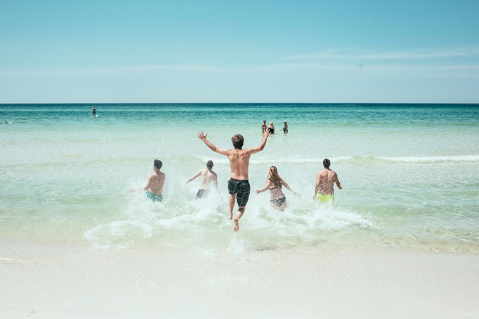 Beach, Ocean, Running, Sea, Seashore, Splash, Water