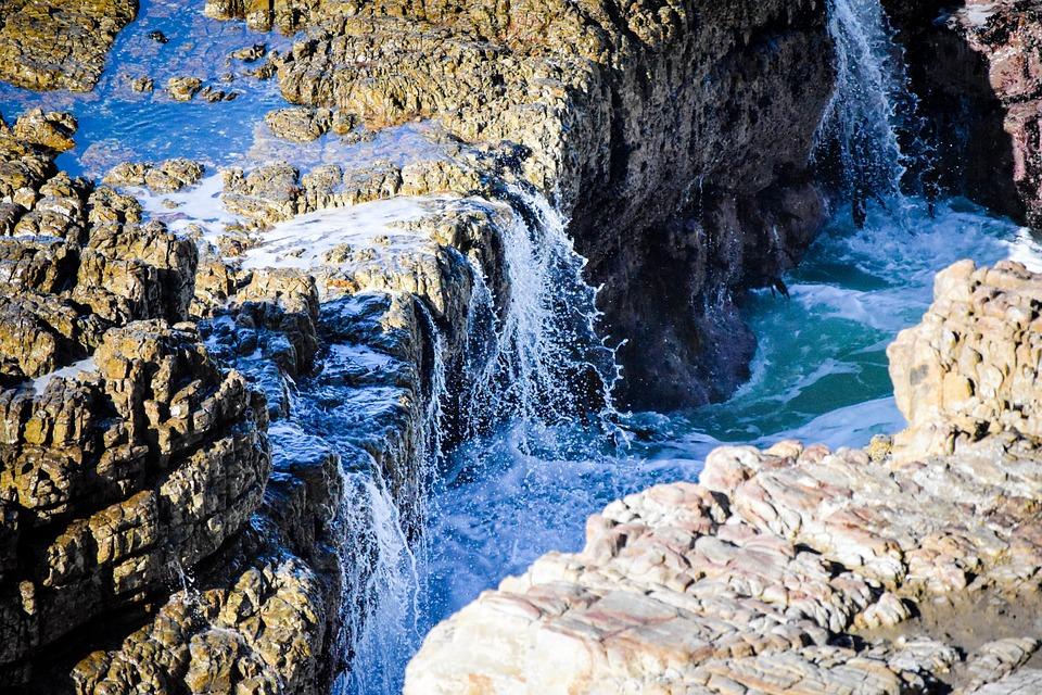 Sea, Splash, Water, Nature, Rock, Travel, Outdoors