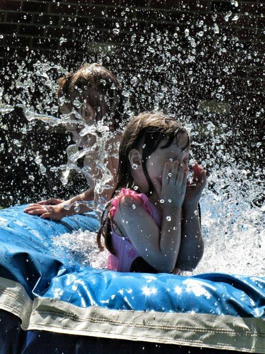 Girl, Splash, Swimming, Summer, Water, Child, Wet