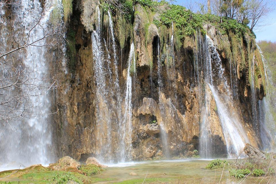 Cascade, Water, Splash, Plitvice