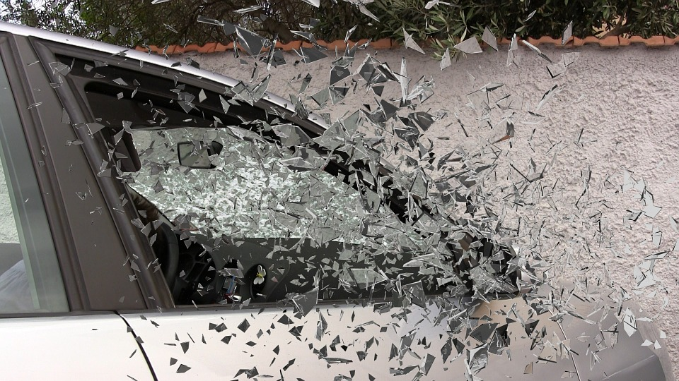 Car Accident, Broken Glass, Splatter, Glass, Broken