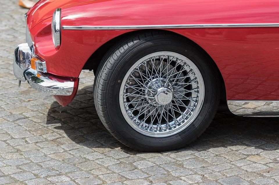 Auto, Mg, Spoke Wheels, Chrome, Vehicle, Wheel