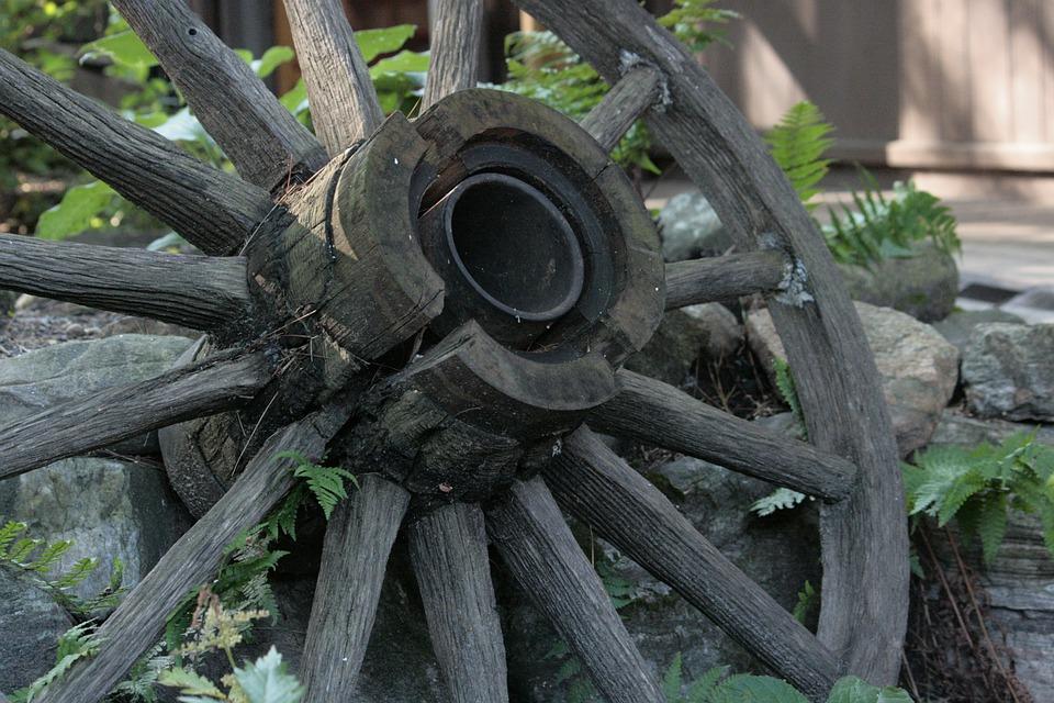 Wagon, Wheel, Vintage, Spokes, Antique, Wooden, Wood