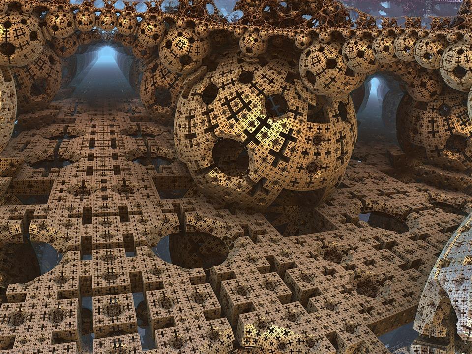 Menger, Sponge, Ball, Sphere, Fractal, Cube, Geometric