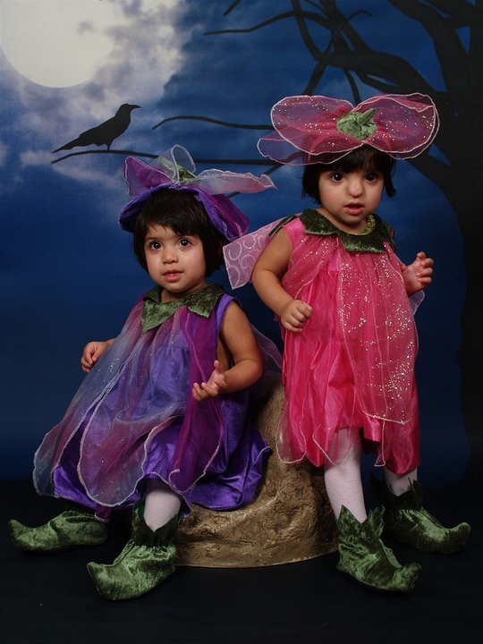 Halloween, Costume, Twins, Toddlers, Spooky, Cute