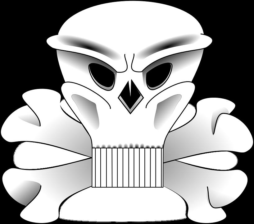 Crossbones, Skull, Danger, Symbol, Death, Spooky