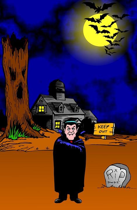 Count Dracula, Halloween, Vampire, Spooky, Kids, Poster