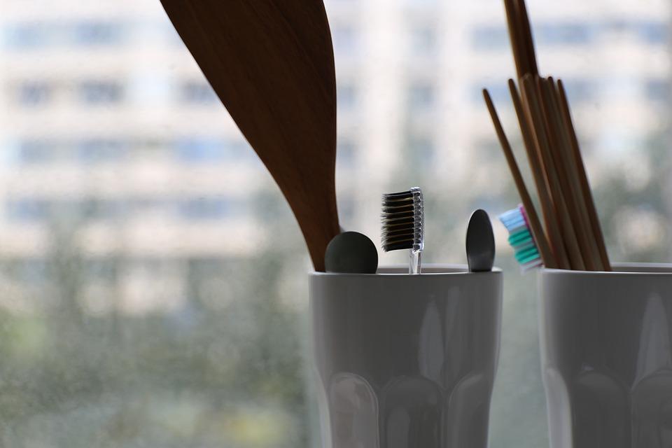 Toothbrush, Cup, Chopsticks, Spoon, Life, Calm, Bath