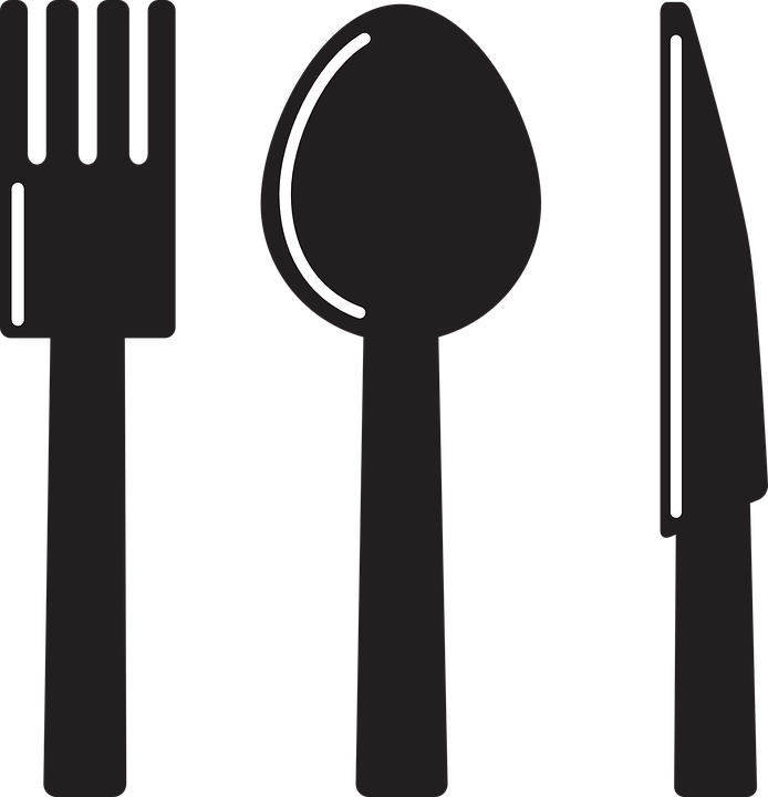 Cutlery, Fork, Knife, Silhouette, Spoon