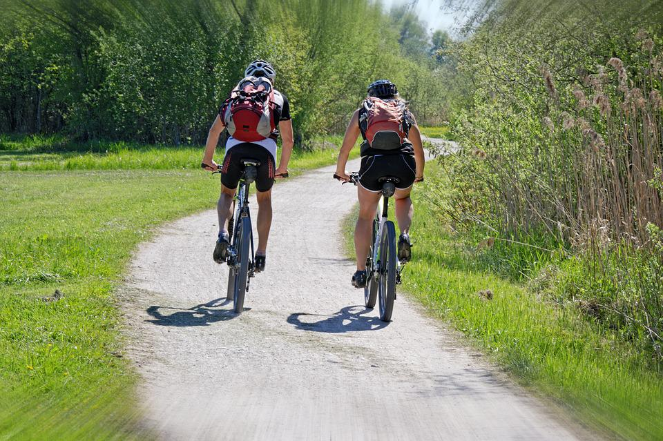 Leisure, Holiday, Sport, Cycling, Cyclists, Together