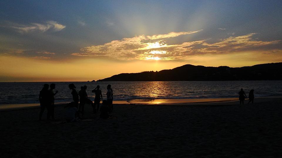 Ixtapa, Zihuatanejo, Sunset, Sun, Beach, Sport, Dusk