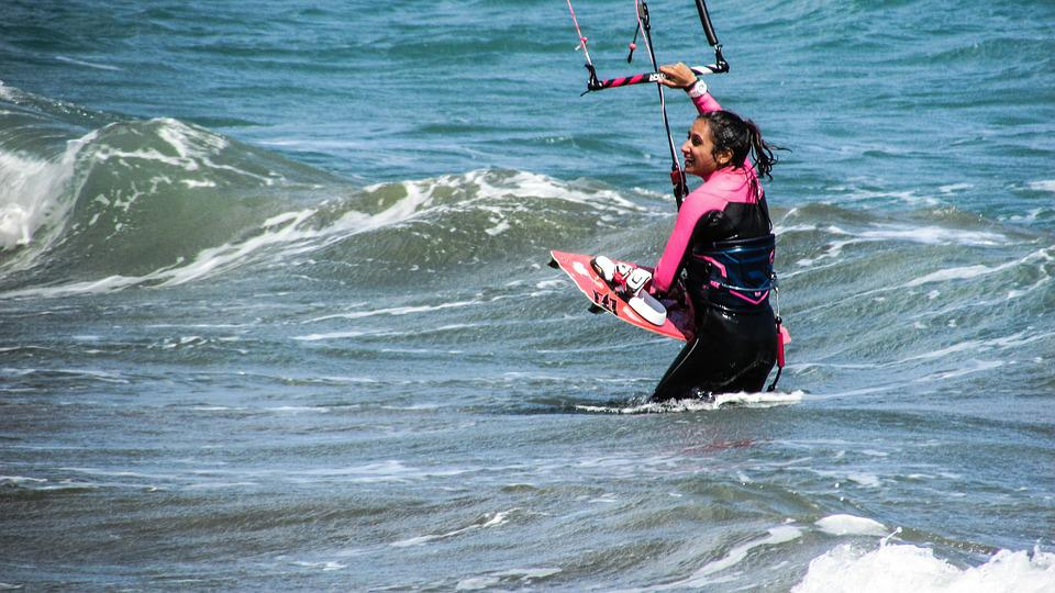 Kite, Surf, Sport, Sea, Surfer, Active, Extreme, Wind