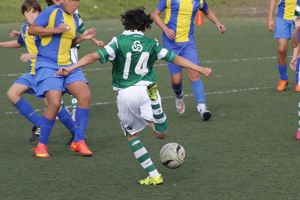 Football, Goal, Ball, Sport, Lawn, Field, Departure