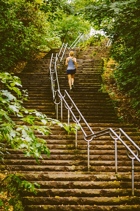 Stairs, Fitness, Endurance, Movement, Sport, Training
