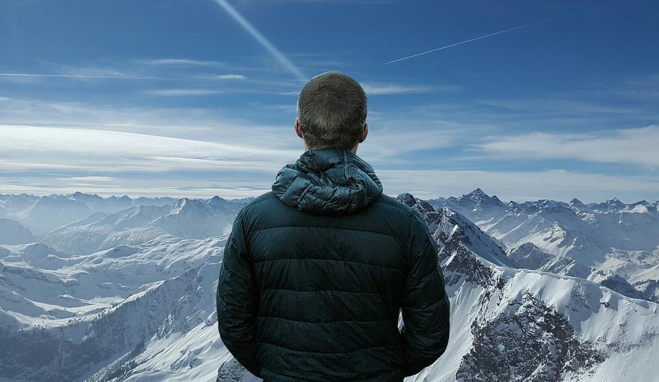 Mountain, Hiking, Man, Sport, Achieve, Peaceful, Nature